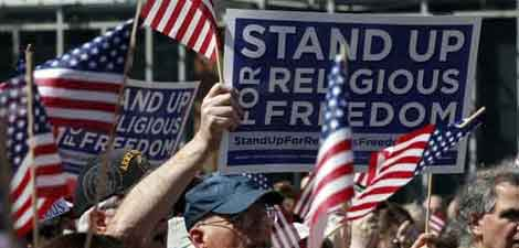Stand up for Religious Freedom Rally pic